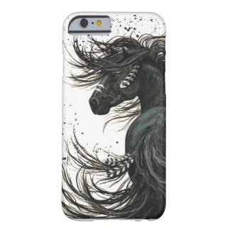 Funda Barely There iPhone 6 Caja frisia negra del iPhone 6 del caballo