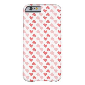 Funda Barely There iPhone 6 Caja minúscula del teléfono de los corazones