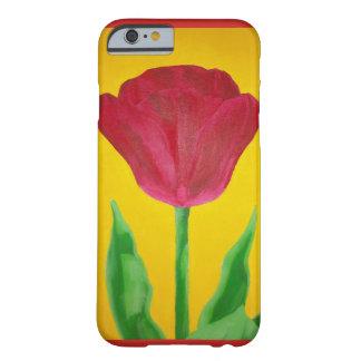 Funda Barely There iPhone 6 Caja pintada del teléfono del tulipán