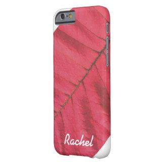 FUNDA BARELY THERE iPhone 6  CAJA ROJA PERSONALIZADA DEL TELÉFONO DE LA HOJA