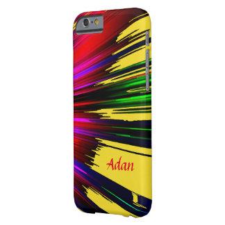 Funda Barely There iPhone 6 Caja roja y amarilla de Adan de los puntos