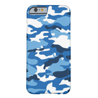 Funda Barely There iPhone 6 Caja urbana azul de Camo iPhone6