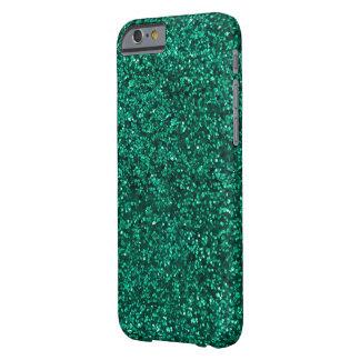 Funda Barely There iPhone 6 ¡Caja verde azulada del teléfono del purpurina I -
