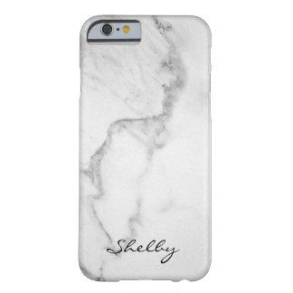 Funda Barely There iPhone 6 Carrara nombrada personalizada caso de mármol del