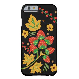 Funda Barely There iPhone 6 Caso de IPhone de la fresa de Khokhloma