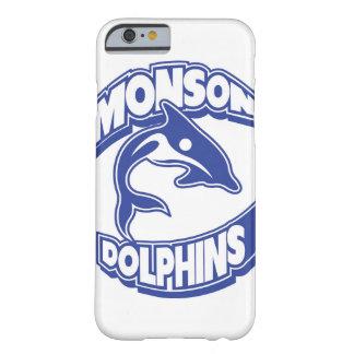Funda Barely There iPhone 6 Caso de Iphone de los delfínes de Monson