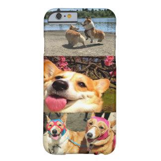 Funda Barely There iPhone 6 Caso de IPhone del Corgi