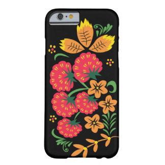 Funda Barely There iPhone 6 Caso de Khokhloma Rasberry IPhone