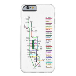 Funda Barely There iPhone 6 Caso de Smartphone del mapa de la bici de New York