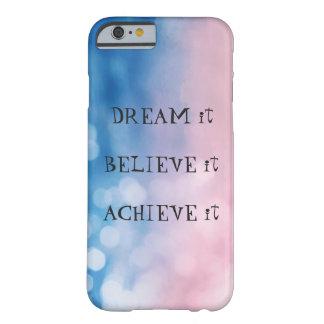 Funda Barely There iPhone 6 caso del iPhone 6/6s con el bokeh y el texto