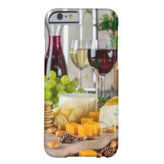 Funda Barely There iPhone 6 Caso del iPhone 6/6s del vino y del queso de fruta