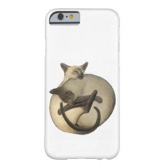 Funda Barely There iPhone 6 Caso del iPhone 6 de los gatos siameses de Yin
