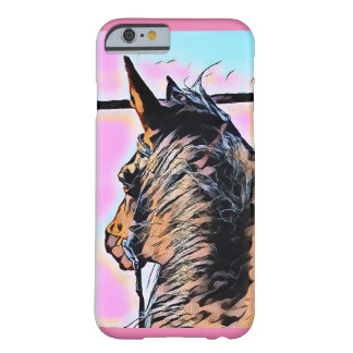 Funda Barely There iPhone 6 Caso del iPhone del caballo del dibujo animado
