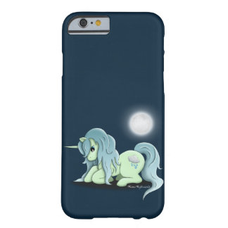 Funda Barely There iPhone 6 caso del unicornio del claro de luna del iPhone