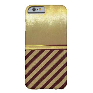 Funda Barely There iPhone 6 caso delgado del diseño del oro de Shell del