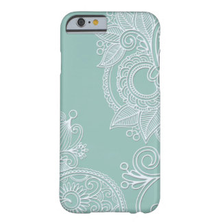 Funda Barely There iPhone 6 Caso grabado en relieve del iPhone 6 de Paisley