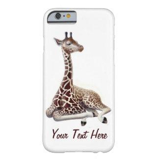 Funda Barely There iPhone 6 Caso joven del iPhone 6 de la jirafa en descanso