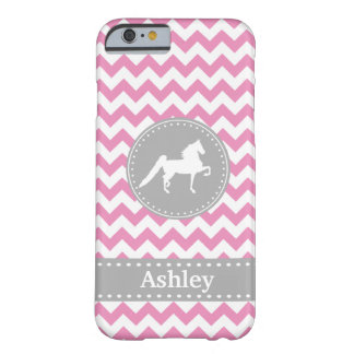 Funda Barely There iPhone 6 Caso rosado adaptable del iPhone 6 de Saddlebred