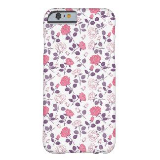 Funda Barely There iPhone 6 Caso rosado de Iphone del modelo de los rosas