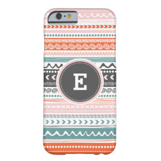 Funda Barely There iPhone 6 Caso tribal del iPhone del monograma del modelo