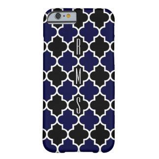 Funda Barely There iPhone 6 Caso vertical del monograma iPhone6 de los azules