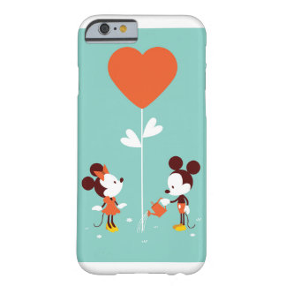 Funda Barely There iPhone 6 Casos suaves del amor del claro de la acuarela de