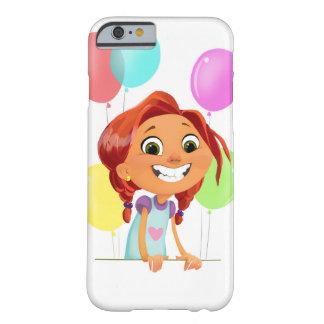 Funda Barely There iPhone 6 Chica cartoony lindo con la sonrisa de los globos