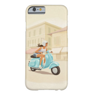 Funda Barely There iPhone 6 Chica de la vespa