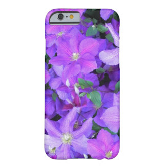 Funda Barely There iPhone 6 Clematis violeta hermoso