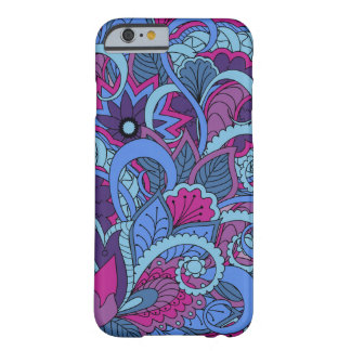 Funda Barely There iPhone 6 colorful blue zen pattern with mandalas