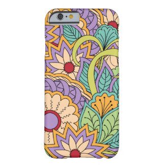 Funda Barely There iPhone 6 colorful zen pattern with flowers and mandalas