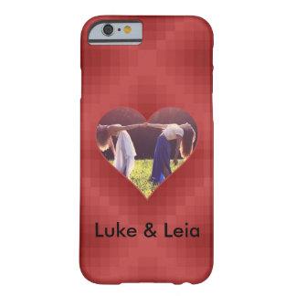Funda Barely There iPhone 6 Corazón patrón Rojo