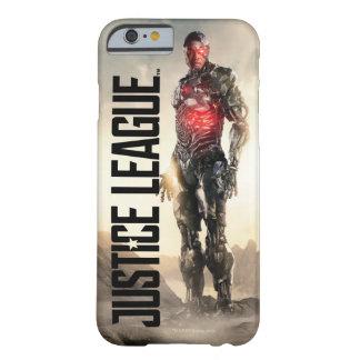 Funda Barely There iPhone 6 Cyborg de la liga de justicia el | en campo de