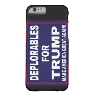 Funda Barely There iPhone 6 Deplorables para la caja del teléfono del triunfo