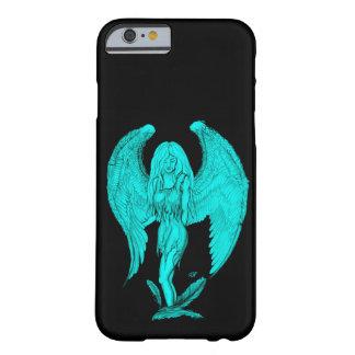Funda Barely There iPhone 6 Diseño del ángel, del negro y del verde