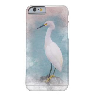Funda Barely There iPhone 6 ¡Egret snowny con base amarillo - pesca en la
