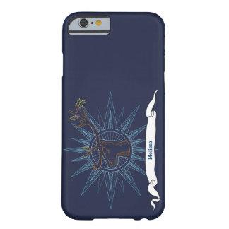 Funda Barely There iPhone 6 Ejemplo azul del arte del navidad del día de