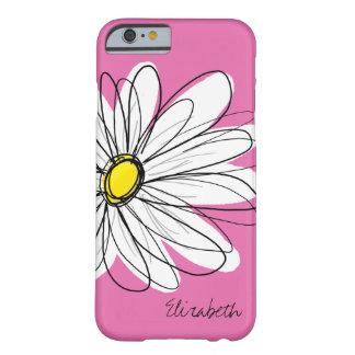 Funda Barely There iPhone 6 Ejemplo floral de la margarita de moda - amarillo