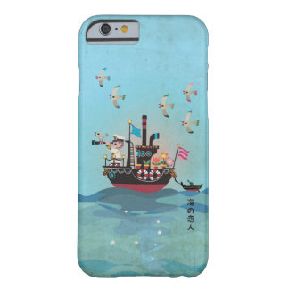 Funda Barely There iPhone 6 Ejemplo japonés retro del amante del mar