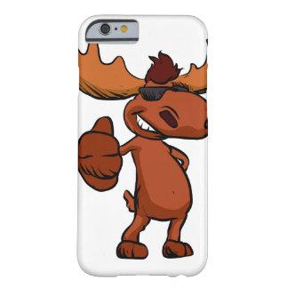 Funda Barely There iPhone 6 El agitar lindo del dibujo animado de los alces