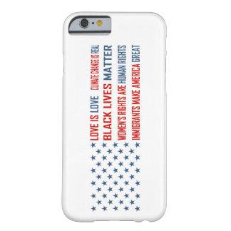 Funda Barely There iPhone 6 El amor es iPhone del amor y Samsung encajona