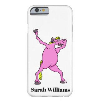Funda Barely There iPhone 6 El frotar rosado del caballo