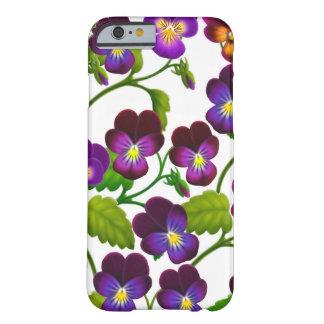 Funda Barely There iPhone 6 El jardín púrpura del pensamiento florece la caja