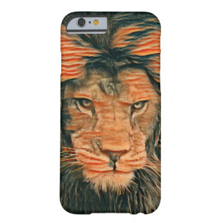 Funda Barely There iPhone 6 El león africano coloreó la caja del iPhone 6/6s