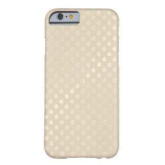 Funda Barely There iPhone 6 El oro Louis Vuitton beige diseña el caso