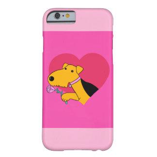 Funda Barely There iPhone 6 El perro w de Airedale subió el caso de Barely