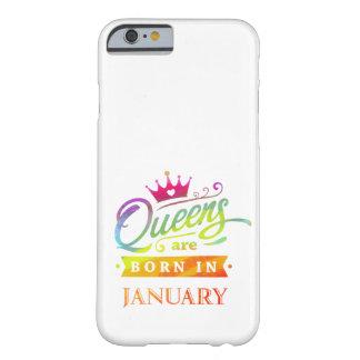 Funda Barely There iPhone 6 El Queens es en enero regalo de cumpleaños nacido