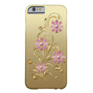 Funda Barely There iPhone 6 El rosa de la pendiente del oro florece el iPhone