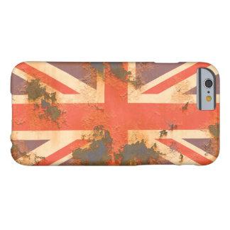 Funda Barely There iPhone 6 El vintage aherrumbró bandera de Reino Unido