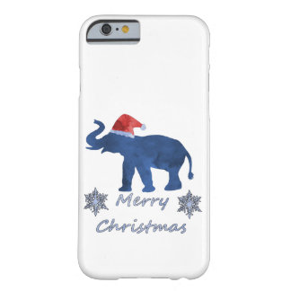 Funda Barely There iPhone 6 Elefante del navidad